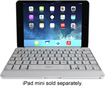 ZAGG - ZAGGfolio Keyboard Case for Apple® iPad® mini - White