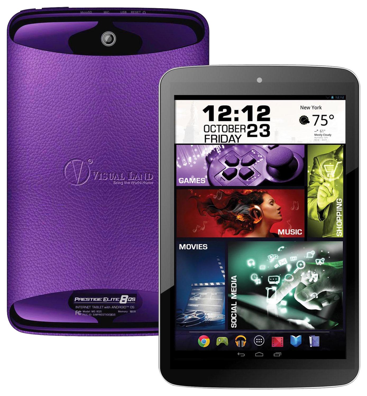 "Visual Land - Prestige Elite - 8"" - 16GB - Purple"