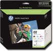 HP - 02 Vivera Ink 6-Pack and Photo Paper Kit