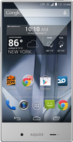 Boost Mobile - Sharp Aquos Crystal 4G No-Contract Cell Phone - White