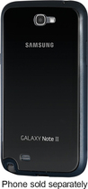 Samsung - Protective Cover + for Samsung Galaxy Note II Cell Phones - Black