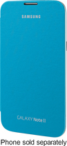 Samsung - Flip Cover for Samsung Galaxy Note II Cell Phones - Blue