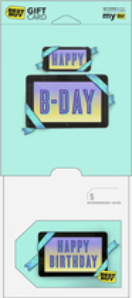 Best Buy Gc - $75 Happy Birthday Tablet Gift Card - Multi