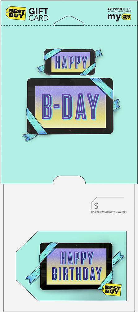 Best Buy GC - $100 Happy Birthday Tablet Gift Card - Multi