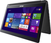 "Asus - Flip 2-in-1 15.6"" Touch-Screen Laptop - Intel Core i7 - 8GB Memory - 1TB Hard Drive - Black"