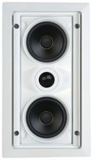 "SpeakerCraft - AIM LCR 1 Dual 5-1/4"" 2-Way In-Wall LCR Speaker (Each) - White"