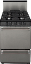 "Premier - Pro Series 24"" Freestanding Gas Range - Stainless-Steel"
