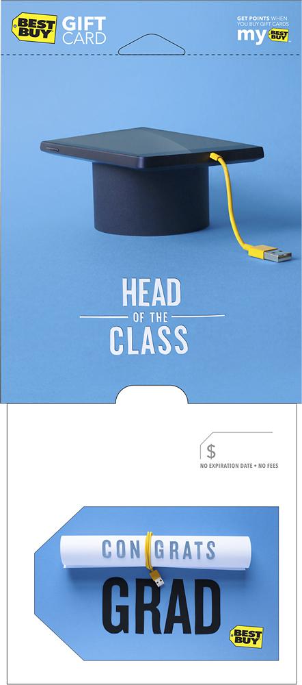 Best Buy GC - $50 Graduation Diploma Gift Card - Multi