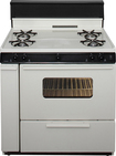 "Premier - 36"" Freestanding Gas Range - Bisque/Biscuit"