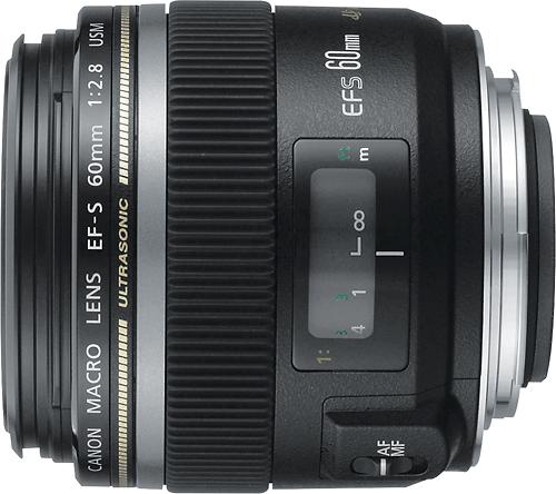 Canon - EF-S 60mm f/2.8 Macro USM Lens - Black