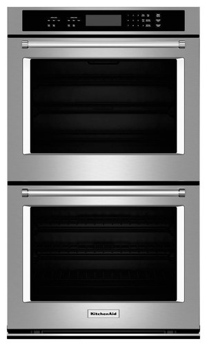 KitchenAid - 30 Built-In Double Electric Wall Oven - Stainless Steel (Silver)