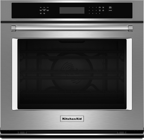 KitchenAid - 30 Built-In Single Electric Convection Wall Oven - Stainless Steel (Silver)