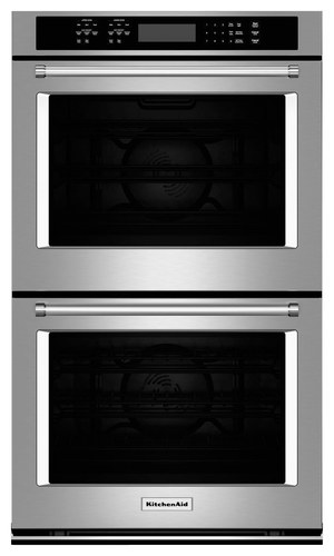 KitchenAid - 27 Built-In Double Electric Convection Wall Oven - Stainless Steel