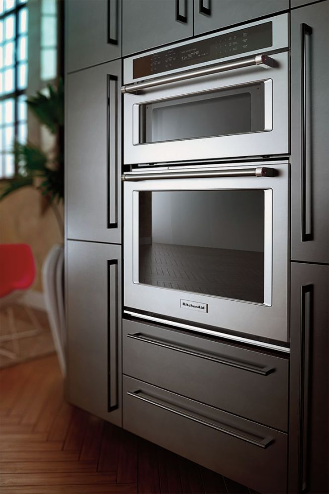 """Kitchenaid 30 Wall Oven Microwave Combo kitchenaid - 30"""" single electric convection wall oven with built"""