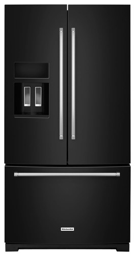 KitchenAid - 26.8 Cu. Ft. French Door Refrigerator - Black