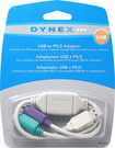 Dynex™ - USB to PS/2 Adapter - White