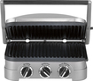 Cuisinart - Griddler Stainless Steel 4-in-1 Grill/Griddle and Panini Press - Brushed Stainless-Steel/Black