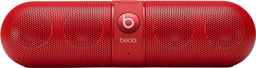 Beats by Dr. Dre - Geek Squad Certified Refurbished Beats Pill 2.0 Portable Bluetooth Speaker - Red