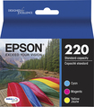 Epson - 220 3-Pack Ink Cartridges - Cyan/Magenta/Yellow