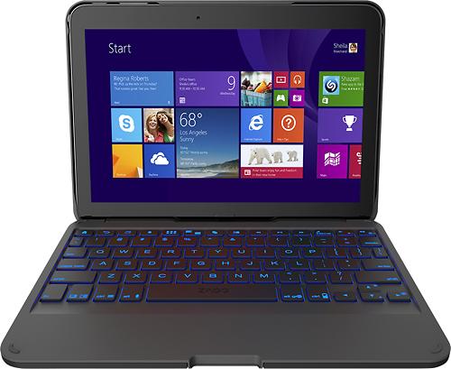 ZAGG - ZAGGfolio Bluetooth Keyboard Case for Samsung Galaxy Tab 10.1 - Black
