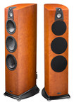 "Wharfedale - Jade 7 6-1/2"" and Dual 8"" 4-Way Floorstanding Loudspeakers (Pair) - Cherry"