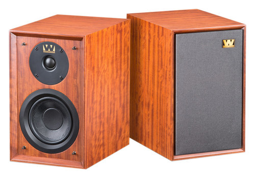Wharfedale - Denton 5 2-Way Bookshelf Loudspeakers (Pair) - Mahogany Red