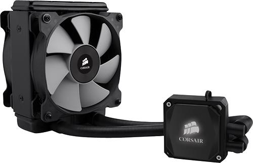 Corsair - Hydro Series H80i Dual 120mm Fan CPU Cooler - Black