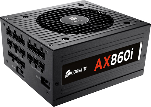 Corsair - AX860i 860-Watt ATX Power Supply - Black