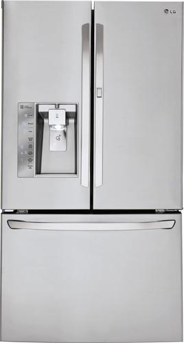 LG - 29.6 Cu. Ft. French Door Refrigerator with Thru-the-Door Ice and Water - Stainless Steel