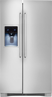 Electrolux - 25.9 Cu. Ft. Side-By-Side Refrigerator with Thru-the-Door Ice and Water - Stainless-Steel