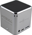 RockDoc - Pitbull POWER Portable 1-Way Speaker with 4GB Memory - Silver