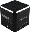 RockDoc - Pitbull POWER Portable 1-Way Speaker with 4GB Memory - Black