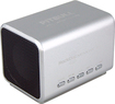 RockDoc - Pitbull BOOM Portable 2-Way Speaker with 4GB Memory - Silver
