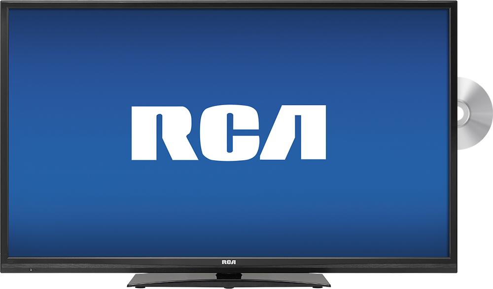 """RCA - 40"""" Class (40"""" Diag.) - LED - 1080p - HDTV DVD Combo - Black"""