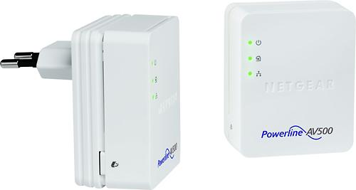 NETGEAR - Powerline 500 Nano Ethernet Adapter Kit - White