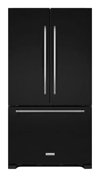 KitchenAid - 20.0 Cu. Ft. Counter-Depth French Door Refrigerator - Black