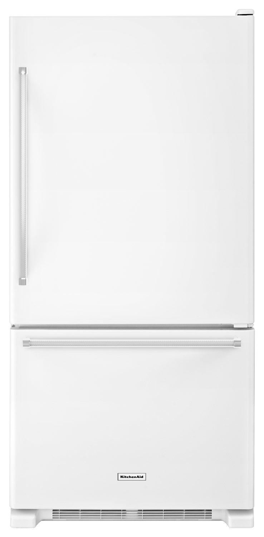 KitchenAid - 18.7 Cu. Ft. Bottom-Freezer Refrigerator - White