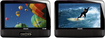 "Philips - 9"" Dual-Screen Portable DVD Player - Black"