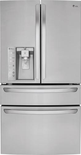LG - 29.9 Cu. Ft. 4-Door French Door Refrigerator with Thru-the-Door Ice and Water - Stainless-Steel