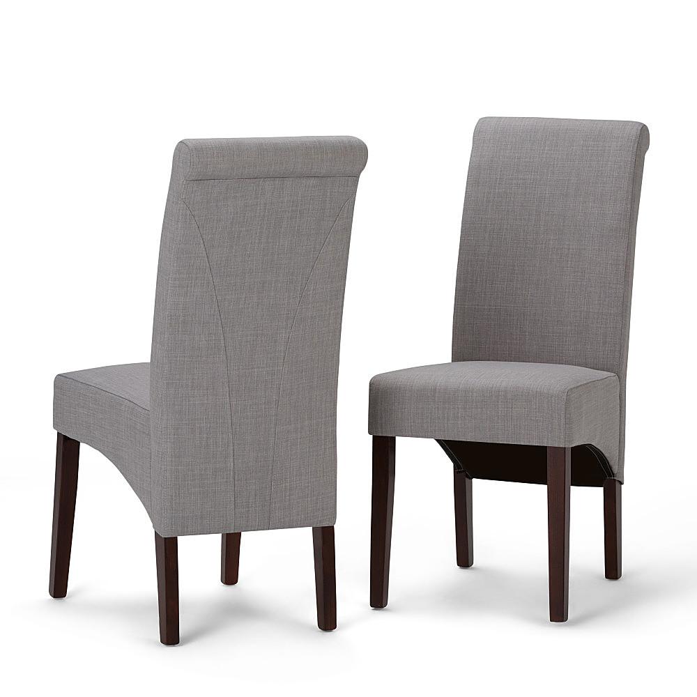 Simpli Home - Avalon Deluxe Parson Chairs  - Dove Gray