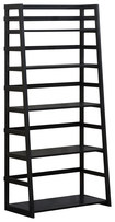 Simpli Home - Acadian 5-shelf Ladder Bookcase - Black