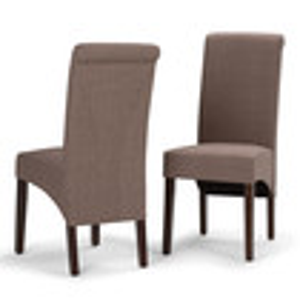 Simpli Home - Avalon Deluxe Parson Chairs  - Light Mocha