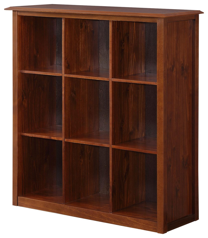 Simpli Home - Devon 9-shelf Bookcase - Medium Mahogany Brown