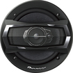 "Pioneer - A-Series 6-1/2"" 3-Way Car Speaker with Multilayer Mica Matrix Cone (Pair) - Black"
