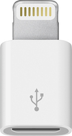 Apple® - Lightning-to-Micro USB Adapter - White