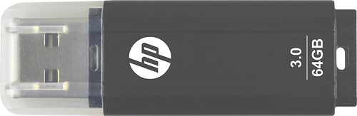 HP - 64GB USB 3.0 Flash Drive - Black