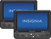 "Insignia™ - 9"" Dual Portable DVD Players - Black"