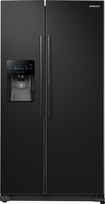 Samsung - 24.7 Cu. Ft. Food ShowCase Side-by-Side Refrigerator with Thru-the-Door Ice and Water - Black