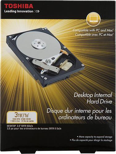 Toshiba - 3TB Internal Serial ATA III Hard Drive for Desktops - Multi