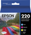 Epson - 220 4-Pack Ink Cartridges - Black/Cyan/Magenta/Yellow